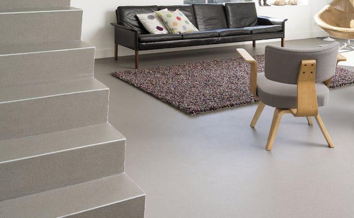 Troffelvloer of Steentapijt is geschikt voor vloerverwarming - © DRTgietvloeren.be