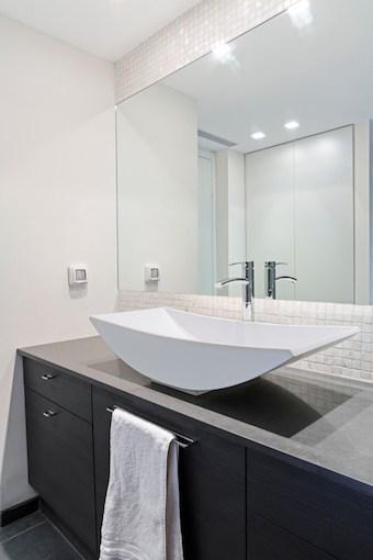 Infrarood spiegel in de badkamer