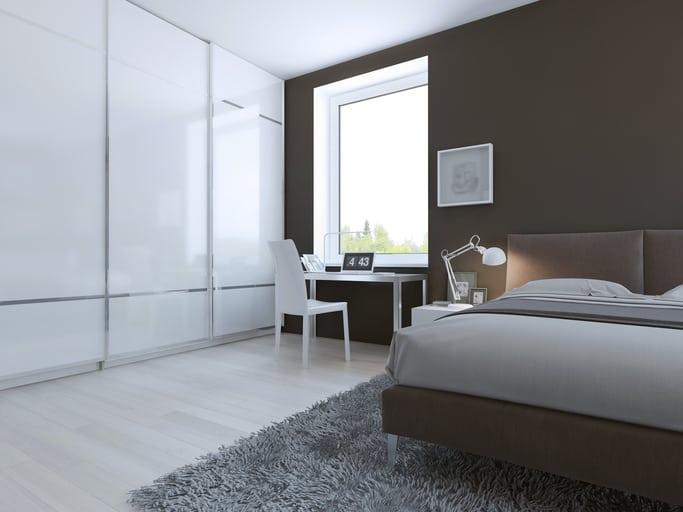 Vloerverwarming met linoleum in slaapkamer