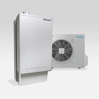 Vloerverwarming met hybride warmtepomp
