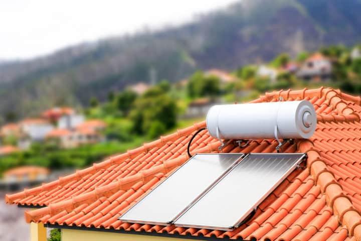 Werking van zonneboiler voor vloerverwarming