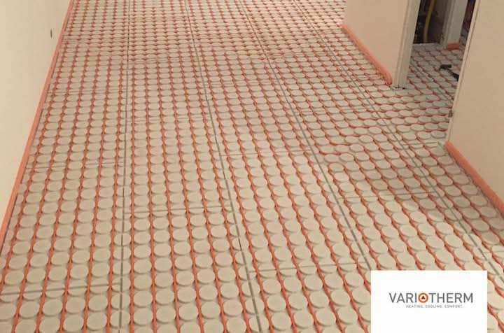 Warm Water Vloerverwarming: Droogbouw